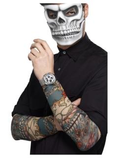 Tattoo-Ärmel Tag der Toten 2 Stück bunt