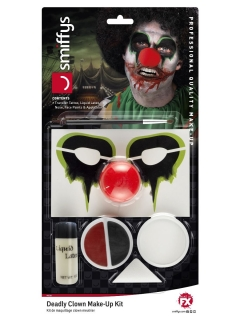 Horrorclown-Make-up-Set Halloween-Make-up 6-teilig bunt