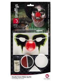 Horrorclown-Make-up-Set Halloween-Make-up 6-teilig bunt