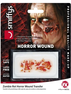 Horror-Wunde Zombie-Wunde Halloween-Make-up rot