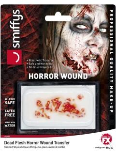 Zombie-Wunde Horror-Wunde Halloween-Make-up rot