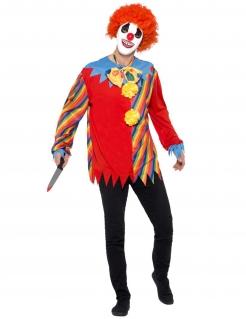 Tödlicher Mörder-Clown Halloween-Kostüm bunt