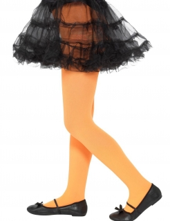 Kinderstrumpfhose Accessoire für Halloween orange