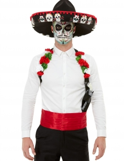 Día de los Muertos-Accessoire-Set Halloween-Accessoires bunt