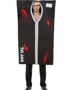 Leichensack-Kostüm Halloween-Kostüm schwarz-rot