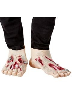 Zombie-Schuhüberzieher für Halloween 2 Stück hautfarben-rot