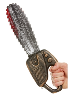 Miniatur-Kettensäge Halloween-Waffe bunt 40cm