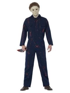 Michael Myers™-Kostüm für Herren blau-rot-weiss