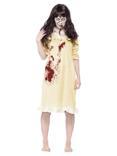 Zombie-Damenkostüm Halloween-Kostüm gelb-rot