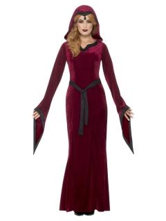 Mittelalter-Kostüm für Damen Karneval Halloween rot-schwarz