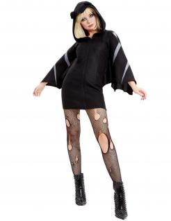Attraktives Fledermaus-Kostüm für Frauen schwarz