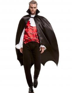 Edler Vampir-Fürst Halloween-Kostüm für Herren schwarz-rot-weiss