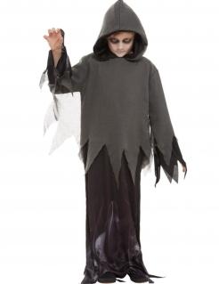 Geister-Kostüm für Jungen Halloween-Kostüm schwarz