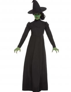 Einfaches Hexenkostüm für Damen Halloween-Kostüm schwarz
