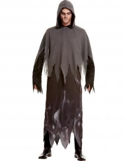 Phantom-Kostüm für Herren Halloween-Kostüm schwarz-grau