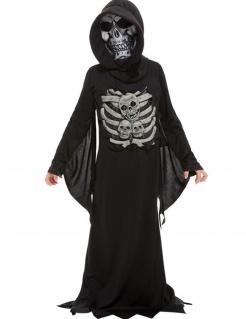 Sensenmann-Kostüm für Kinder mit Maske Halloween-Kostüm schwarz-beige