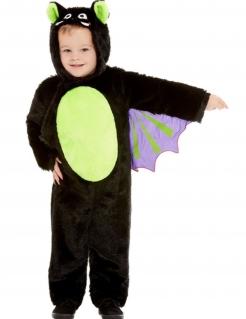 Fledermaus-Kostüm für Kleinkinder Halloween-Kostüm schwarz-grün