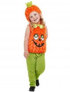 Süßes Kürbis-Kostüm für Kleinkinder Halloween-Kostüm orange-grün