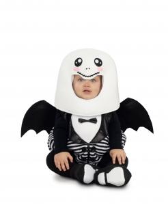 Geflügeltes Gespenster-Kostüm für Babys weiss-schwarz
