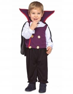 Vampirgraf-Kostüm für Kleinkinder Halloween-Kostüm schwarz-lila