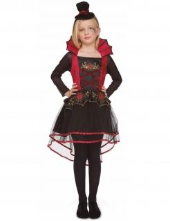 Vampirin-Mädchenkostüm Halloweenkostüm schwarz-rot