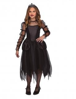 Gothic-Prinzessin Kostüm für Mädchen Halloween-Kostüm schwarz