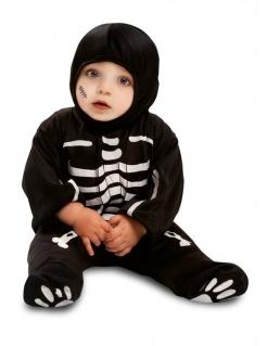 Skelett-Kostüm für Babys Halloweenkostüm schwarz-weiss