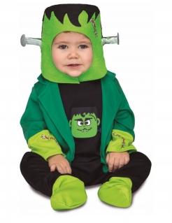 Frankymonster-Kostüm für Babys Halloween-Kostüm grün-schwarz