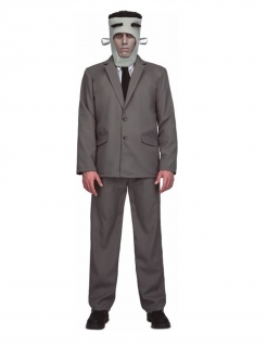 Frankymonster-Kostüm für Herren Halloweenkostüm grau