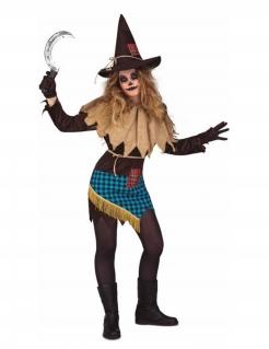 Gruseliges Hexen-Kostüm für Damen Halloween-Kostüm braun