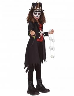 Voodoo-Priesterin-Kostüm für Mädchen Halloween-Kostüm rot-schwarz