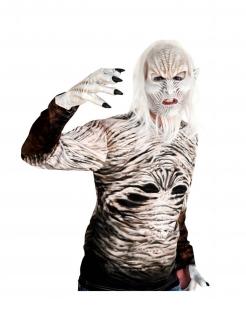 Winter-Wanderer-Handschuhe Halloween-Handschuhe weiss-schwarz