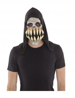 Zähne-Maske für Erwachsene Halloweenmaske grau