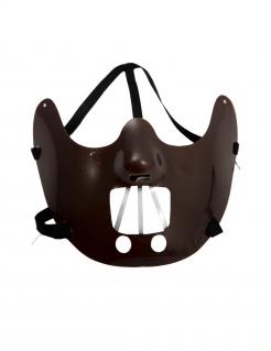 Kannibalen-Maske Halloween-Maske dunkelbraun