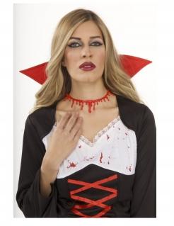 Bluttropfen-Halskette Halloween-Accessoire rot