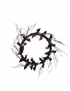 Fledermaus-Türkranz Halloween-Türdeko schwarz-lila
