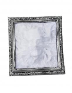 Geisterbild Halloween-Wanddeko Geistermann silber-grau 36x39x5cm