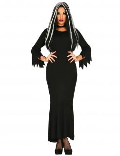 Gruseliges Damenkostüm Gräfin-Kostüm für Halloween schwarz
