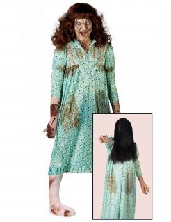 Besessenes Mädchen Damenkostüm Halloween-Kostüm türkis-braun