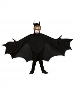 Gruseliges Fledermaus-Kostüm für Kinder Halloween-Kostüm schwarz