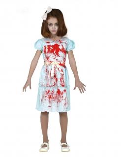 Geister-Zwilling-Kostüm für Mädchen Halloween-Kostüm blau-rot