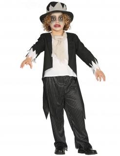 Zombie-Bräutigamkostüm für Jungen Halloween-Kostüm schwarz-weiss
