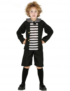 Geister-Schüler-Kostüm für Jungen Halloween-Kostüm schwarz-weiss