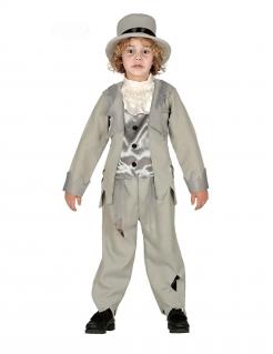 Geister-Bräutigam-Kostüm für Kinder grau