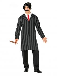Gentleman-Kostüm für Herren Edelmann schwarz-grau