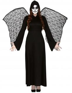 Todesengel-Kostüm für Damen Halloween-Kostüm schwarz