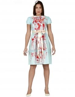 Phantom-Kostüm für Damen Halloween-Kostüm blau-rot