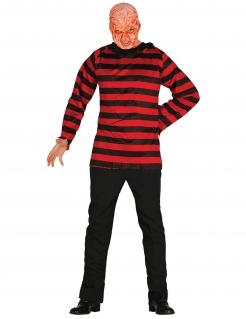 Killer-Kostüm für Herren Halloweenkostüm schwarz-rot