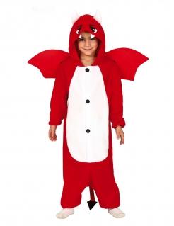 Süßes Teufelskostüm für Jungen Halloween-Kostüm rot-weiss