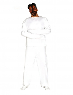 Psychopathen-Kostüm für Halloween Zwangsjacke weiss